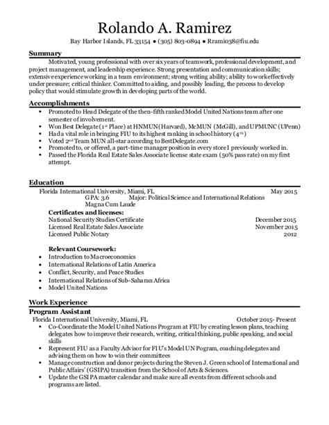 fiu resume fiu resume resume ideas