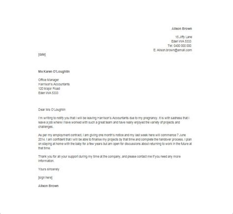 Resignation Letter Sle End Contract 13 Employee Resignation Letter Templates Free Sle Exle Format Free