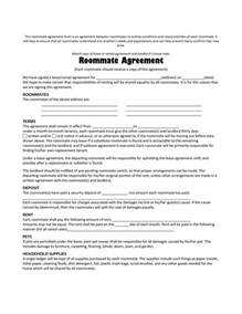 Roommate Template by Doc 9001165 Roommate Agreement Form 40 Free Roommate