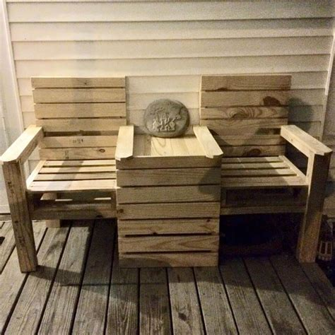 chair bench diy diy pallet double chair bench 99 pallets