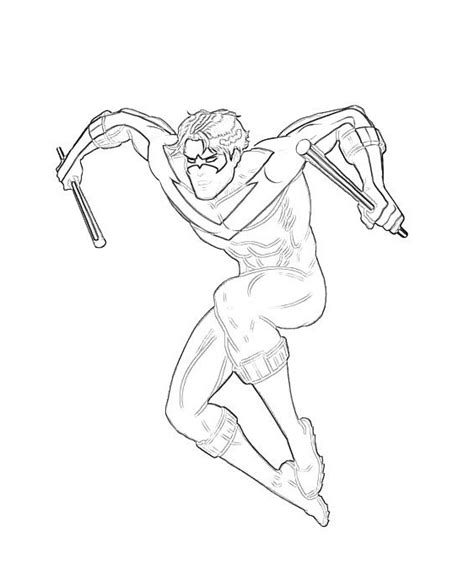 coloring pages nightwing printable nightwing coloring pages coloring me