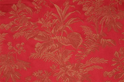 red floral upholstery fabric red gold floral damask upholstery fabric