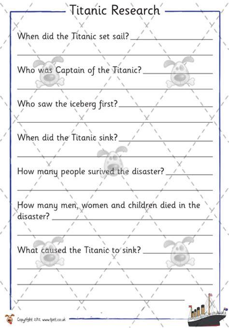 teacher s pet premium printable games activities teacher s pet titanic research premium printable