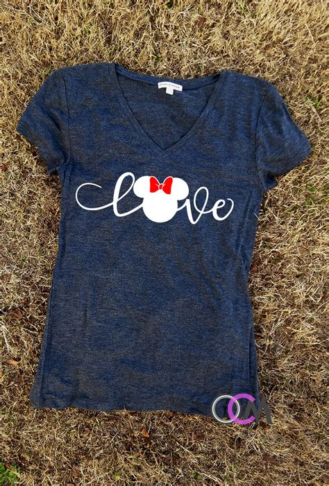 Lova Shirt disney shirt family disney shirts minnie shirt
