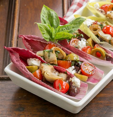 endive boats with marinated vegetables 5 healthy appetizers for holiday get togethers