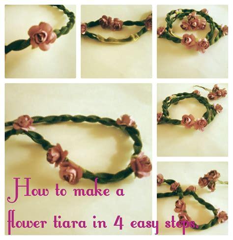 diy tiara di fiori makeup how to make a flower tiara in 4 easy steps 183 how to make