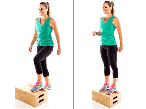 bench step up exercise step ups
