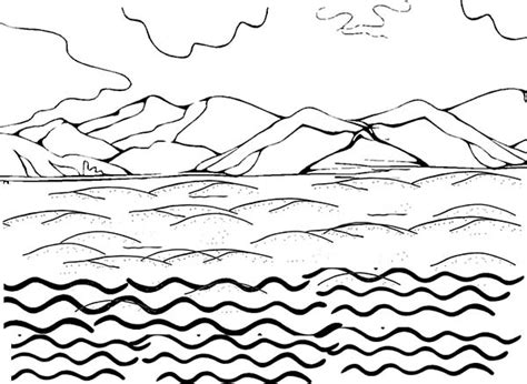 Land And Water Coloring Page Coloring Pages Land Coloring Pages