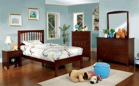 childrens pine bedroom furniture cm7908ch pine brook kids bedroom 4pc set in cherry w options