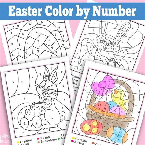 easter coloring pages by numbers easter color by numbers worksheets the egg color by