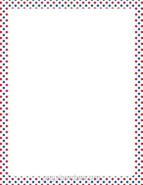 printable polka dot border paper red white and blue polka dot border http pageborders