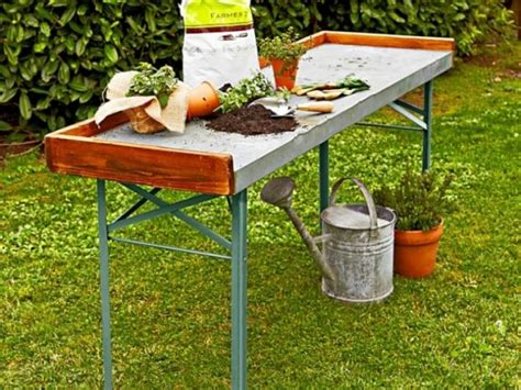 galvanized potting bench 10 easy pieces potting benches gardenista