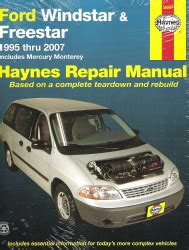 1995 2007 Ford Windstar Freestar Monterey Haynes Repair