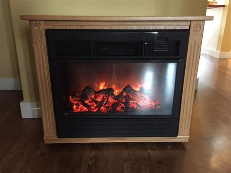 Amish Built Electric Fireplace by Heat Surge Amish Electric Fireplace Heater In Blond Oak