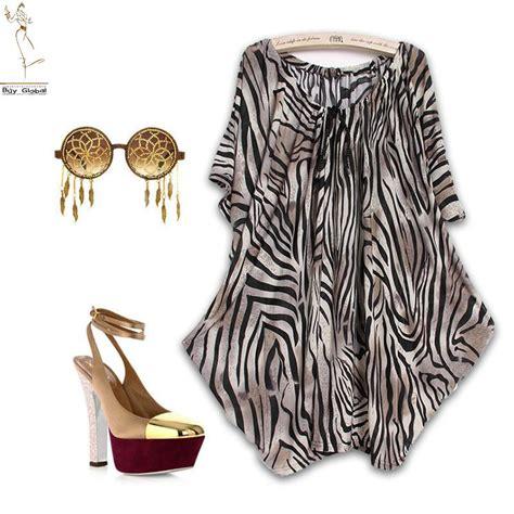 zebra design clothes 2015 new summer women casual dress vestidos large size