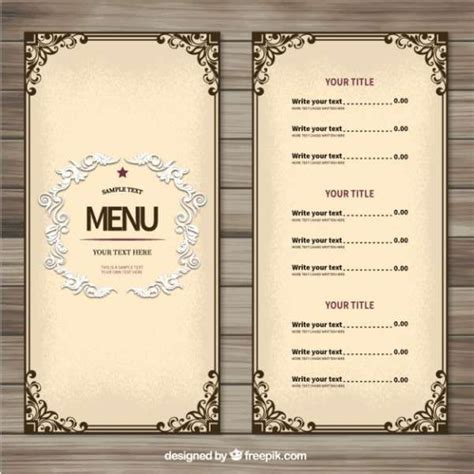 easy menu templates free 25 best ideas about menu templates on