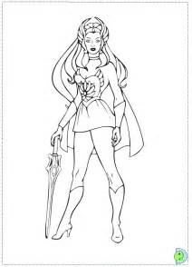 She Ra Color Pages Colouring sketch template