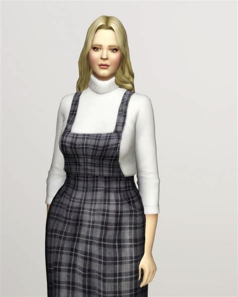Turtleneck Overall overall skirt turtleneck 15 colors at nail 187 sims