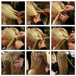 how to braid hair step by step how to do waterfall twist braid step by step hairstyle