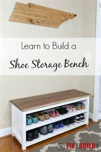 diy entryway storage bench diy entryway shoe storage bench fixthisbuildthat