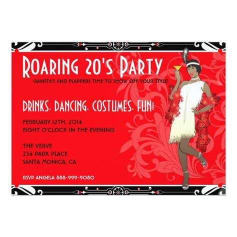roaring twenties invitation template personalized roaring 20s invitations custominvitations4u
