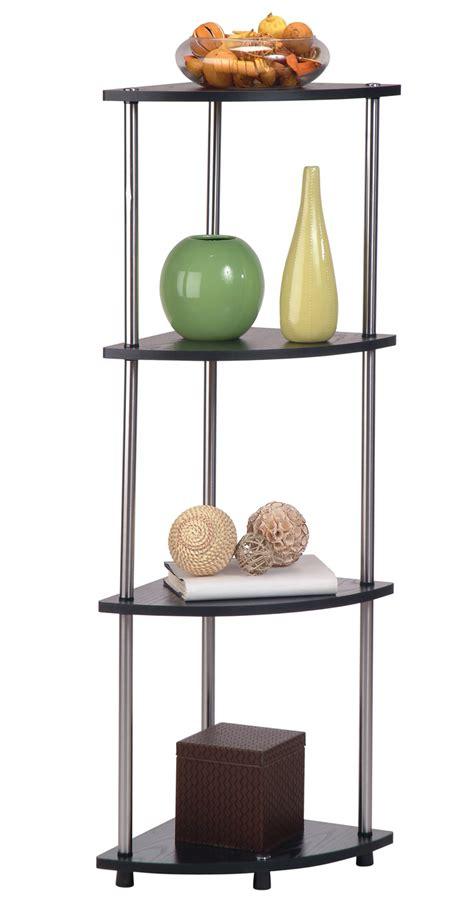 Corner Tier Shelf by Four Tier Corner Shelf Espresso In Free Standing Shelves