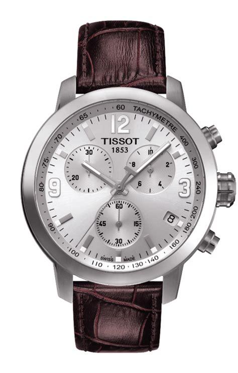 Tissot Prc 200 T17158652 t055 417 16 037 00 brown leather silver prc 200 quartz chrono