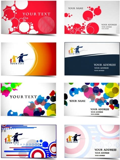dynamic flow line business card template vector free