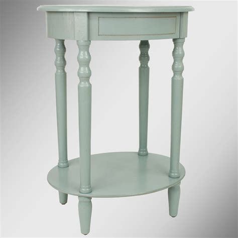 Blue Accent Table Reigna Pale Blue Oval Accent Table