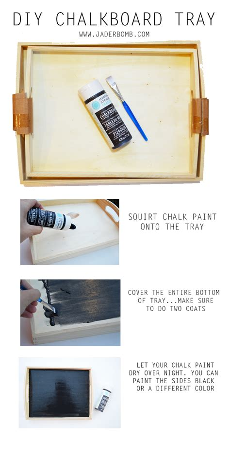 diy chalkboard tray diy archives jaderbomb