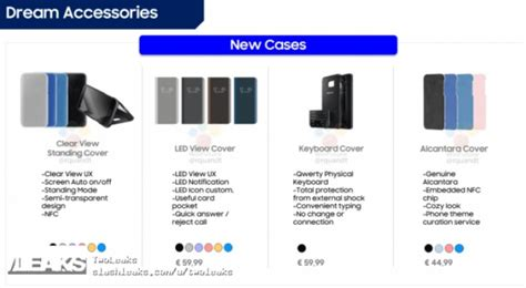 Note 8 Samsung Original Led View Premium samsung galaxy s8 accessories and their prices get leaked
