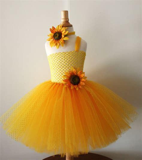 And Bab Woven Dress Sunflowers Diskon baby yellow sunflower glitter tutu dress infant to