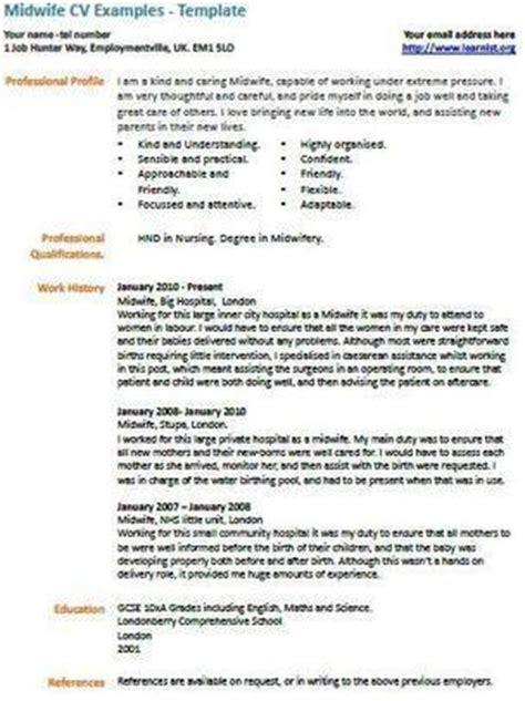 Midwife Resume Sles Midwife Cv Exle Uk Vacancies