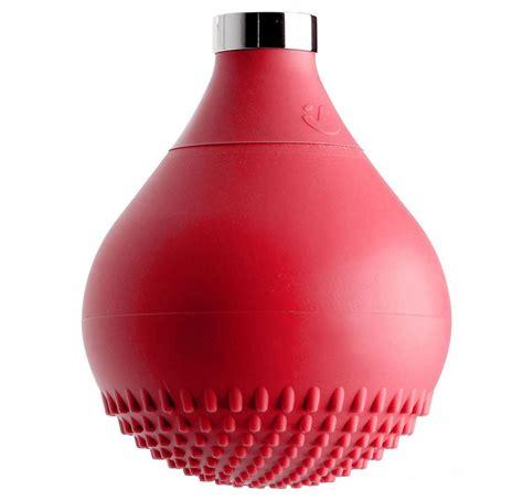 silicone doccia soffione in silicone rosso drop
