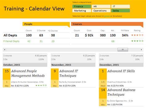 Tutorial Excel Calendar | excel template employee training tracker calendar