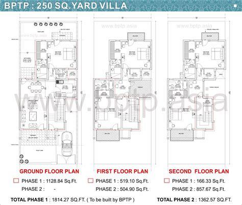villa layout plan bptp parkland villas faridabad floor plans bptp villa