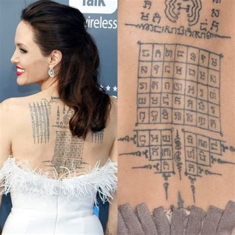 sak yant tattoo angelina jolie angelina jolie s 16 tattoos meanings steal her style