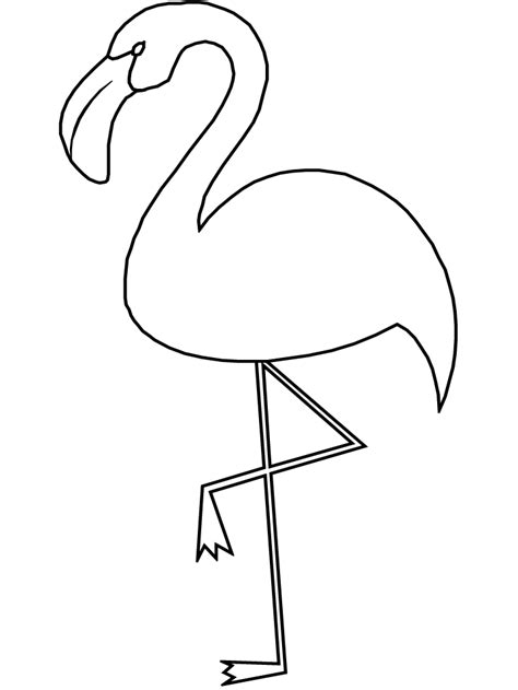 flamingo template flamingos coloring pages to