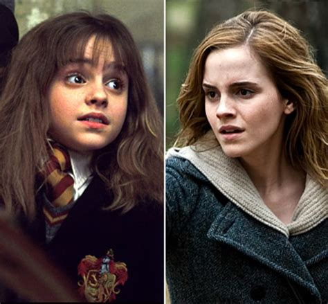 emma watson now and then emma watson as hermione granger harry potter stars then