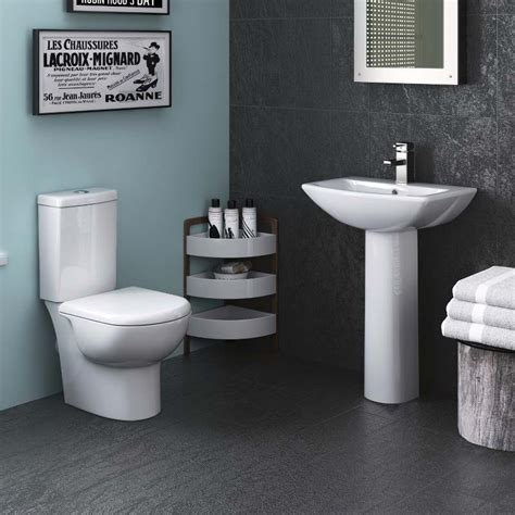 click bathrooms knedlington toilet basin package short projection