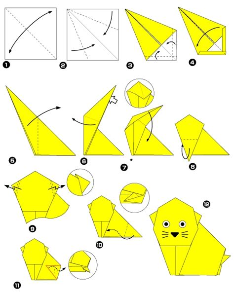 Origami Chat - origami de chat
