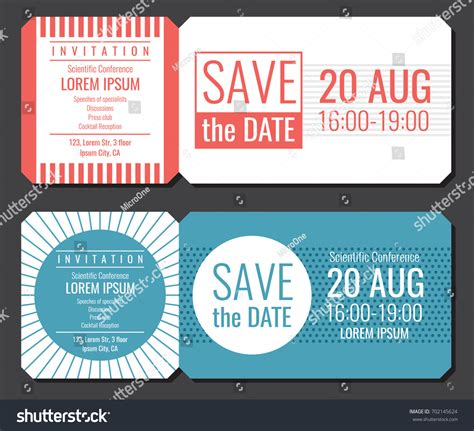concert invitation card template save date minimalist invitation ticket vector stock vector