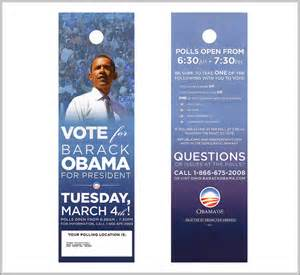 political door hangers door hanger printing tips for political caigns uprinting