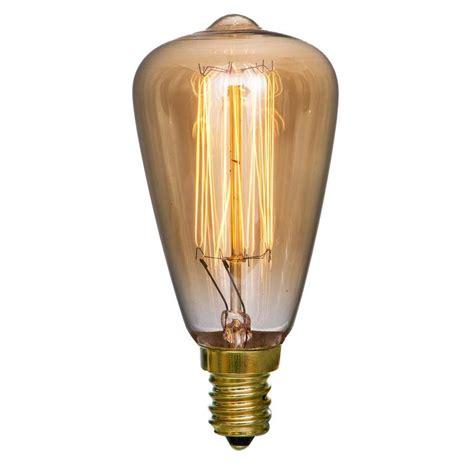 lowes vintage light bulbs shop litex vintage 2 pack 25 watt dimmable warm white st18