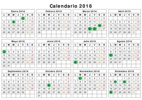 Calendario Laboral As 237 Ser 225 El Calendario Laboral 2016diarioabierto