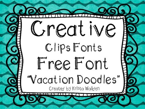 The Creative Chalkboard Free Font Vacation Doodles And