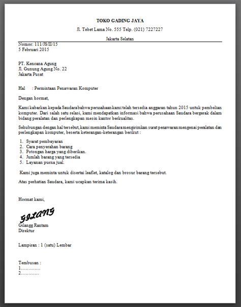 Contoh Permintaan by Contoh Surat Block Style Kumpulan Surat Lengkap
