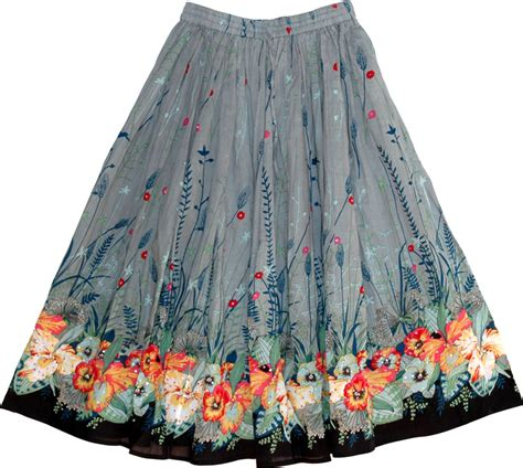 womens regent gray floral skirt sequin skirts sale on