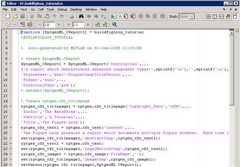 Generate MATLAB Code from Report Setup File MATLAB & Simulink