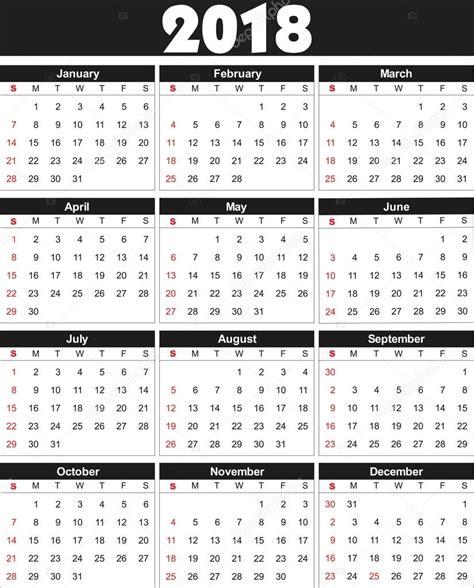 Kalender 2018 Vektor Kalender 2018 I Vektor Kan Omvandlas Till Valfri Storlek